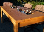 Outdoor Table with Ice Cooler